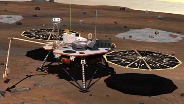 Auf dem Mars gibt es Wasser