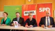 Besteht wegen Corona wohl länger als geplant: die rot-rot-grüne Minderheitsregierung in Thüringen