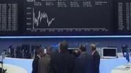 Skeptische Händler an der Börse