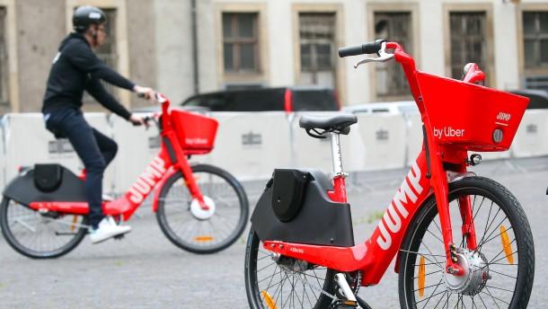 Uber versucht sich als Fahrrad-Verleiher