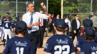 Obama besucht spontan ein Baseball-Training