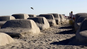 Klima-Kunst am Strand