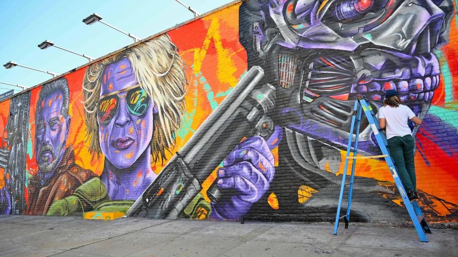 Graffiti für Schwarzenegger in New York