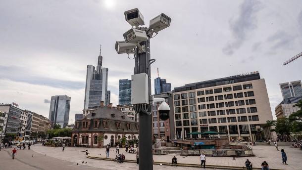Frankfurter Polizei betont Nutzen von Kameras an Hauptwache