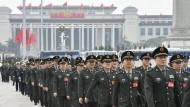 Eingeschworen auf Xi Jinping: Angehörige der Volksbefreiungsarmee