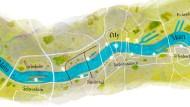 Stadt, Land, Fluss - und vor allem Ufer