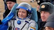 Raumkapsel Sojus in Kasachstan gelandet