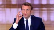 Favorit bei der Stichwahl am Sonntag: Emmanuel Macron