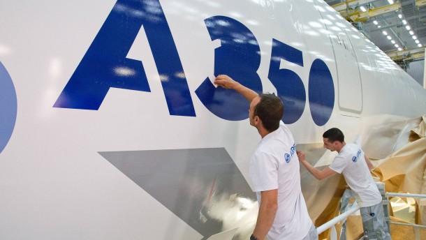 Airbus A350 kurz vor dem Erstflug
