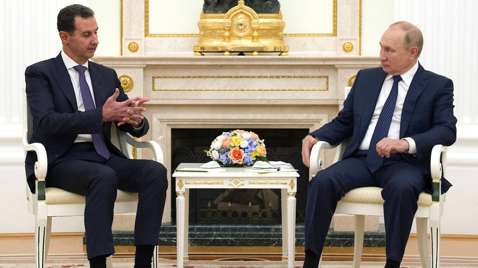 Der syrische Machthaber Baschar al-Assad war am Montagabend im Kreml in Moskau zu Besuch.