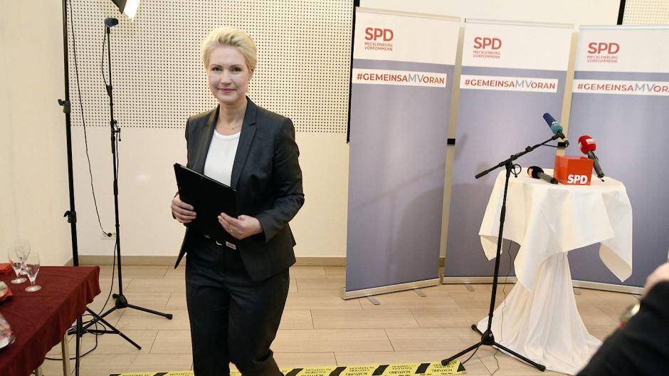 Manuela Schwesig in Güstrow