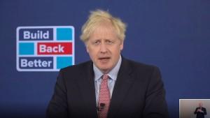 Wie sich Boris Johnson als Windkraftpionier inszeniert