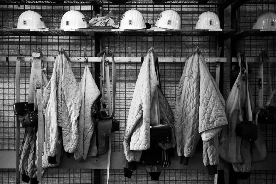 Die Arbeitskleidung schützte die Bergarbeiter täglich vor Verletzungen.