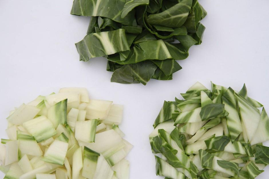 Faustregel: mindestens doppelt so viel Gemüse wie ungekochte Nudeln