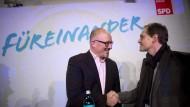 Gegeneinander: Stöß und Müller, hier zusammen Anfang März bei einer Wahlkampfveranstaltung