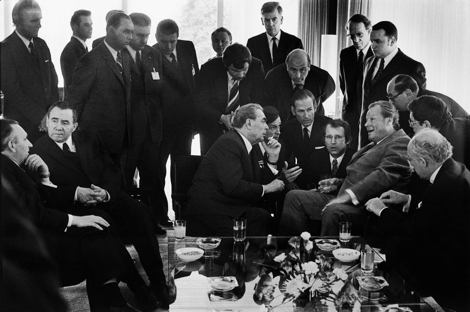 Berühmter Vorläufer: das Bild, das Barbara Klemm 1973 beim Besuch Leonid Breschnews in Deutschland machte.