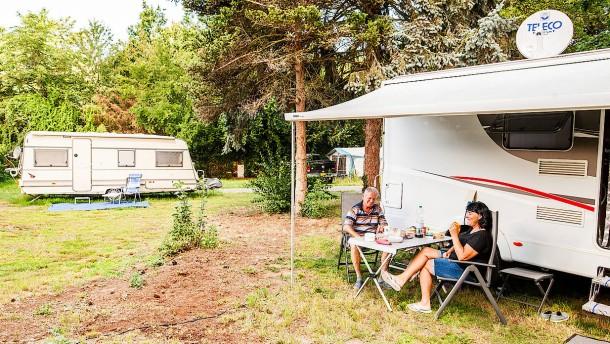 Die Camper fühlen sich frei
