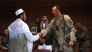 Amerikanische Soldaten üben für den Einsatz am Hindukusch