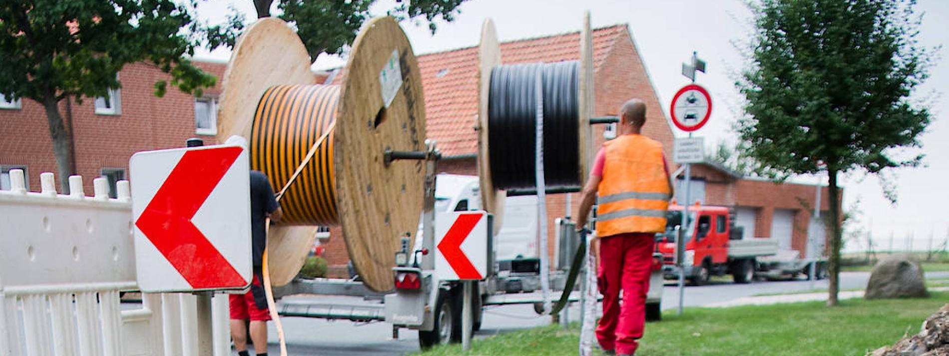 Glasfaser und Straßen im Portfolio