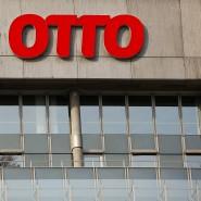 Das Logo der Otto-Group an der Konzernzentrale in Hamburg. In Gießen wird das Logo nun doch kein Logistikzentrum zieren (Archivbild).