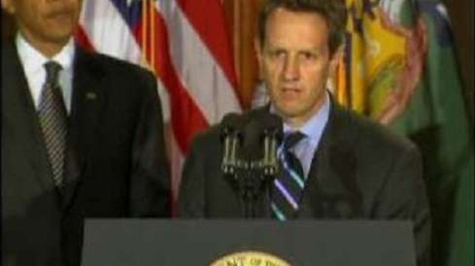 Geithner als amerikanischer Finanzminister vereidigt