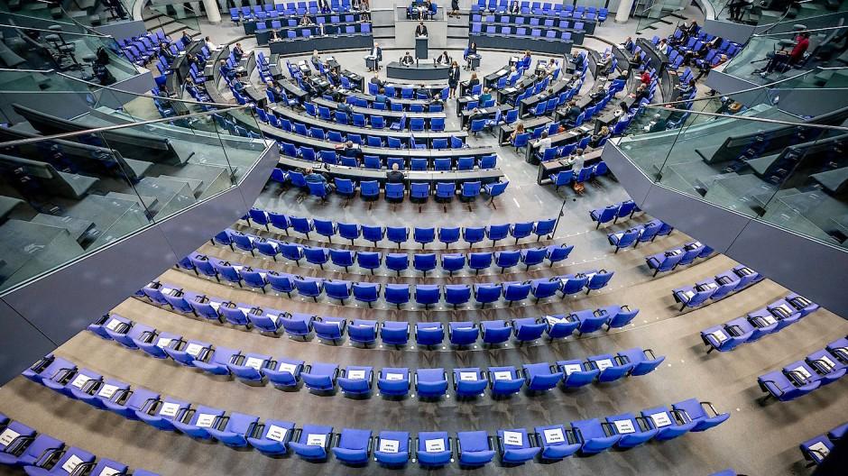 Jetzt schon zu voll: Der Plenarsaal des Deutschen Bundestags
