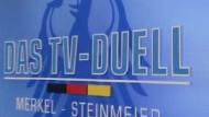 Fernsehduell zwischen Merkel und Steinmeier steht bevor