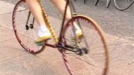 Nervenkitzel mit Fahrrädern ohne Bremsen