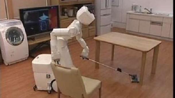 japanische haushaltshilfe putzroboter f r den hausgebrauch video nachrichten faz. Black Bedroom Furniture Sets. Home Design Ideas