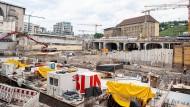 Baustelle am Stuttgarter Hauptbahnhof