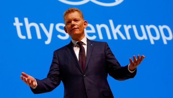 Arbeitnehmervertreter geben Thyssen-Krupp-Chef die Schuld