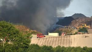 Großbrand erfasst Mülldeponie