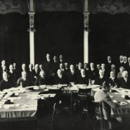 Eine Sitzung des Völkerbunds im März 1927.