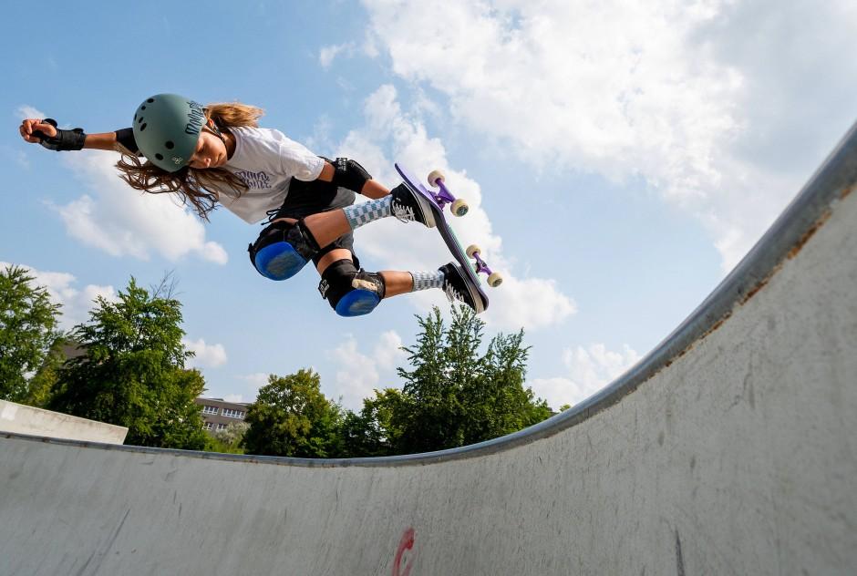 Skateboard: Lilly Stoephasius, 14 Jahre