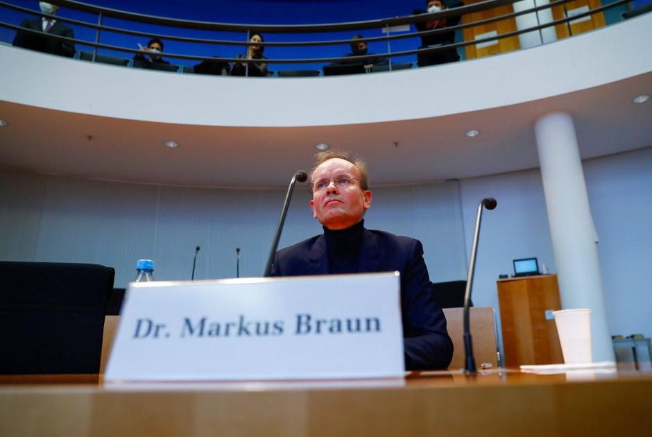 Markus Braun, ehemaliger Wirecard-Chef, vor seiner Aussage im Untersuchungsausschuss des Bundestages.