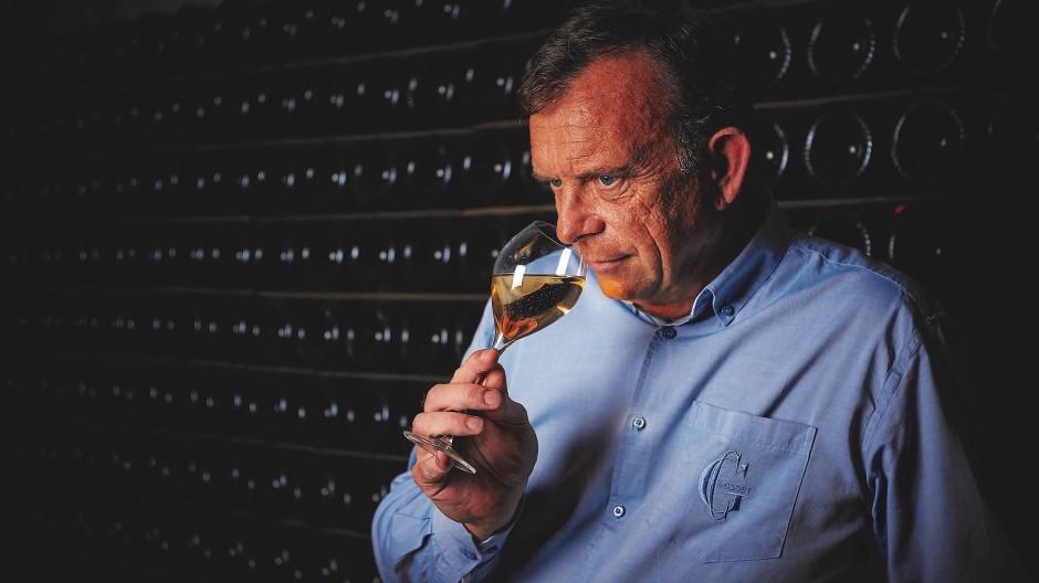 In der Champagne geboren und aufgewachsen: Kellermeister Odilon de Varine hat schon mit acht Jahren Champagner Gläser geleert.