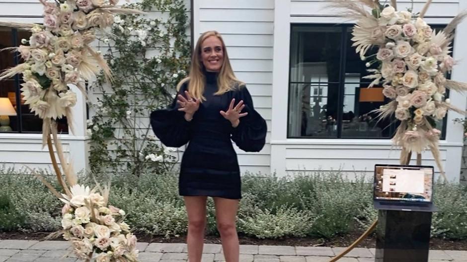 Das Instagram-Foto, das Aufsehen erregte: Adele soll 45kg abgenommen haben.