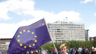 In der Minderheit: EU-Anhänger auf einer Demonstration in London