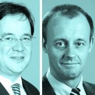 Erst aus der Summe wird ein Charakterzug erkennbar: Armin Laschet (links) ist, wer er ist. Friedrich Merz (Mitte) ist gegen die Einteilung in links, rechts und Mitte. Und Norbert Röttgen (rechts) isst wohl gern Grünkohl.
