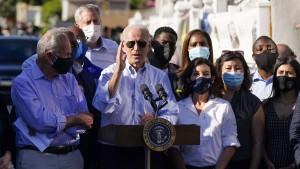 """Biden bezeichnet Bedrohung durch Klimawandel als """"Alarmstufe rot"""""""
