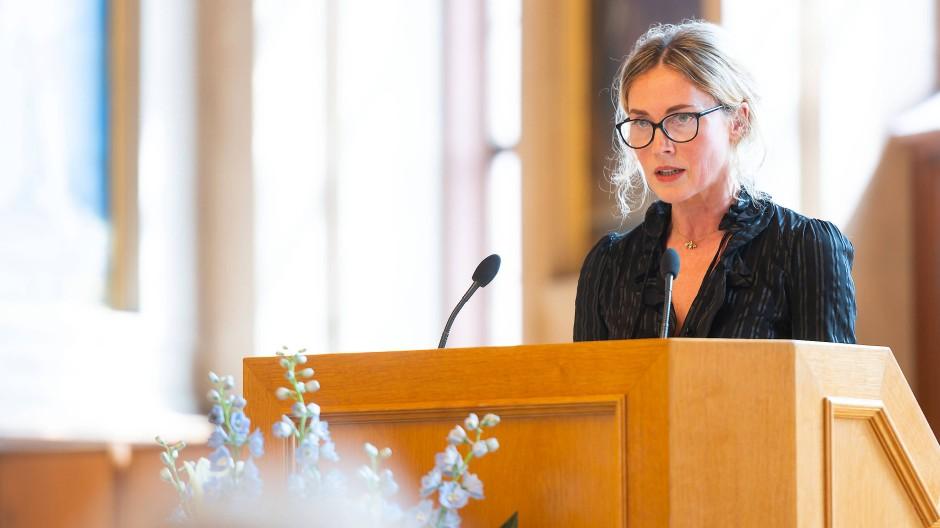 Gegen eine Gewöhnung an einen Ausnahmezustand: Franziska Nori während der Verleihung des Binding Kulturpreises 2019 (Archivbild).
