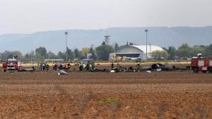Spanisches Kampfflugzeug stürzt ab