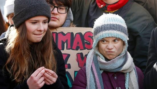 Greta Thunberg und Luisa Neubauer streiken gemeinsam
