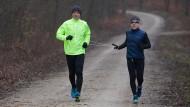 Im Training: Jeffrey Norris (rechts) mit seinem Helfer Dieter Lutz