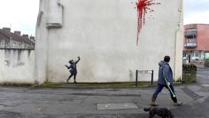 Banksy sprüht neues Graffiti in Bristol