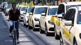 Taxifahrer im Kampf gegen Uber