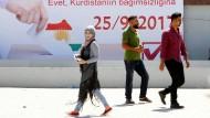 Eine Frage des Stolzes: In Kirkuk werben Plakate für das Referendum über die Unabhängigkeit Irakisch-Kurdistans.