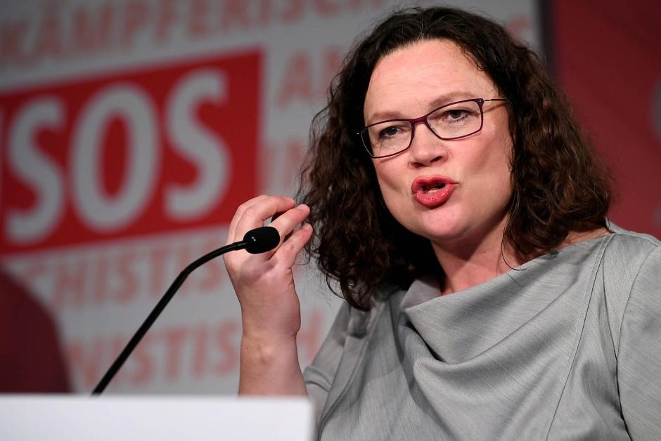 Durch die schlechten Umfragewerte unter Druck: SPD-Chefin Andrea Nahles