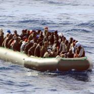 Flüchtlinge vor der Küste von Lampedusa