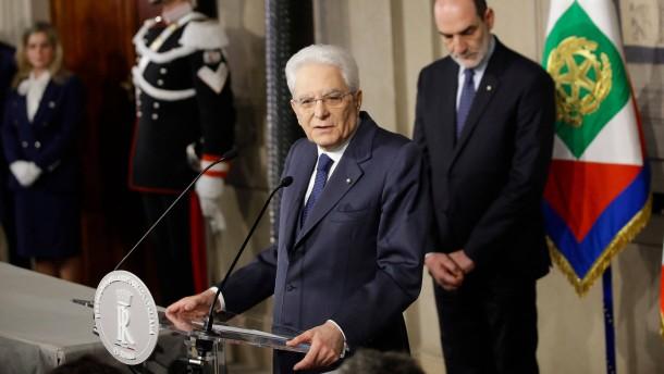Mattarella verliert die Geduld mit Italiens Parteien